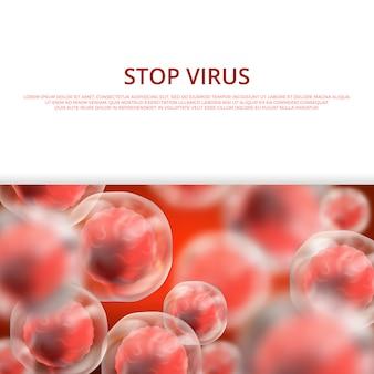 Microbiologie, santé, bannière web médicale