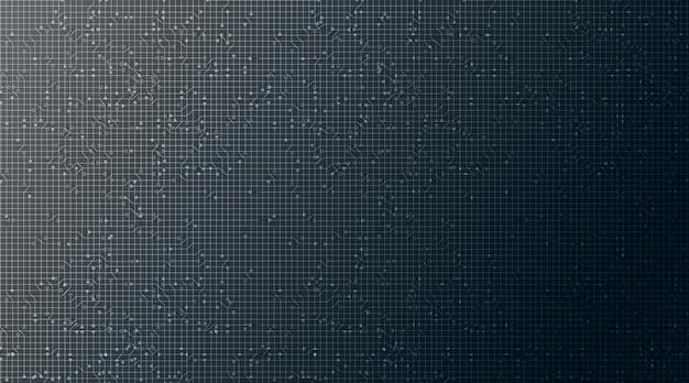 Microchip bleu foncé sur fond de technologie, conception de concept numérique et de sécurité de haute technologie
