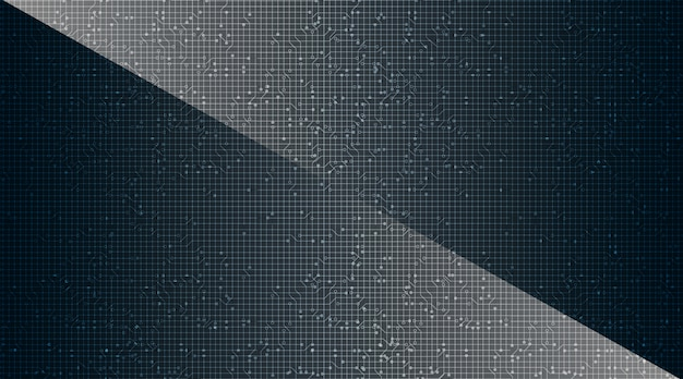 Microchip moderne sur fond de technologie, conception de concept numérique et de sécurité de haute technologie