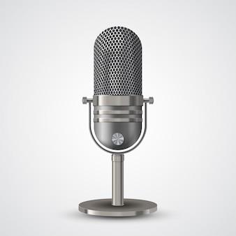 Microphone sur blanc