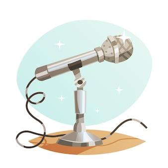 Microphone en métal vintage