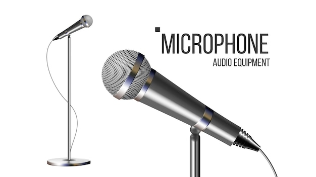Microphone moderne avec support