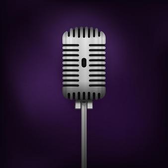 Microphone rétro de vecteur