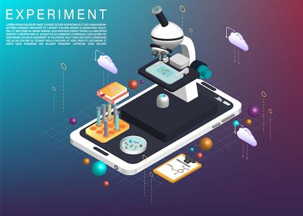 Le microscope sur application cellulaire 3d isométrique