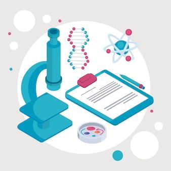 Microscope de laboratoire et liste de contrôle