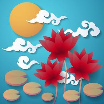 Mid autumn festival vector background