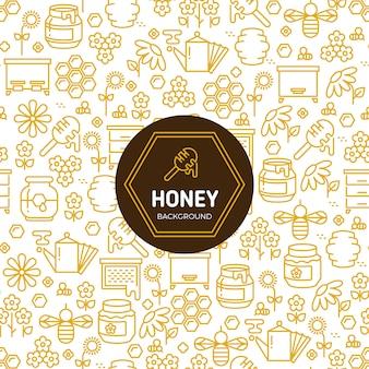 Miel d'emballage fond de vecteur