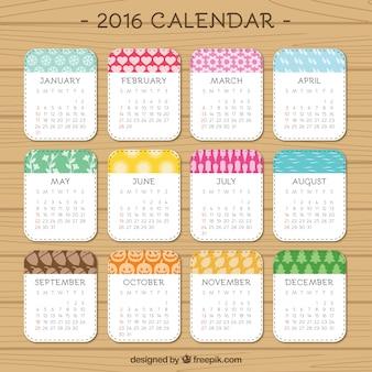 Mignon 2,016 calendrier