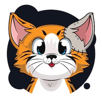 Mignon avatar de chat robot orange