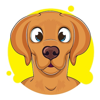 Mignon avatar de chien brun