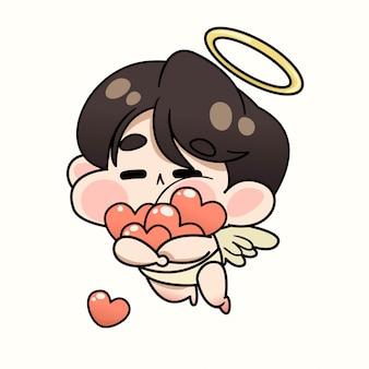 Mignon bébé cupidon valentine