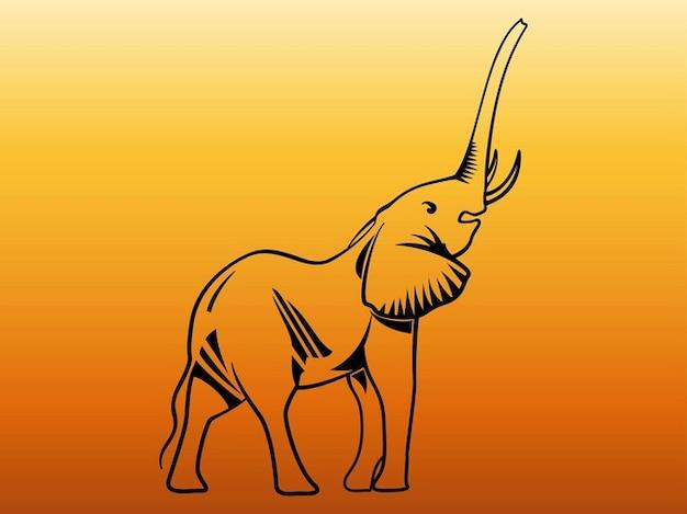 Mignon bébé éléphant faune graphiques