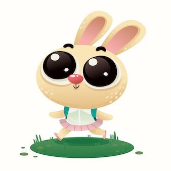 Mignon bébé lapin illustration