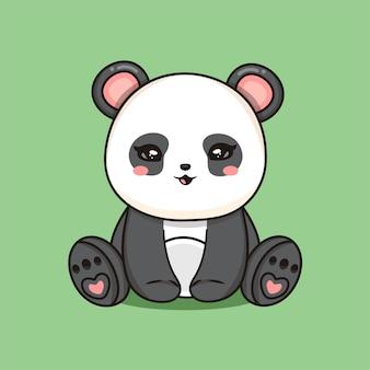 Mignon bébé lion assis icône de vecteur de dessin animé illustration. concept d'icône de nature animale isolé vecteur premium. style de dessin animé plat