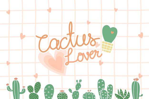 Mignon cactus avec