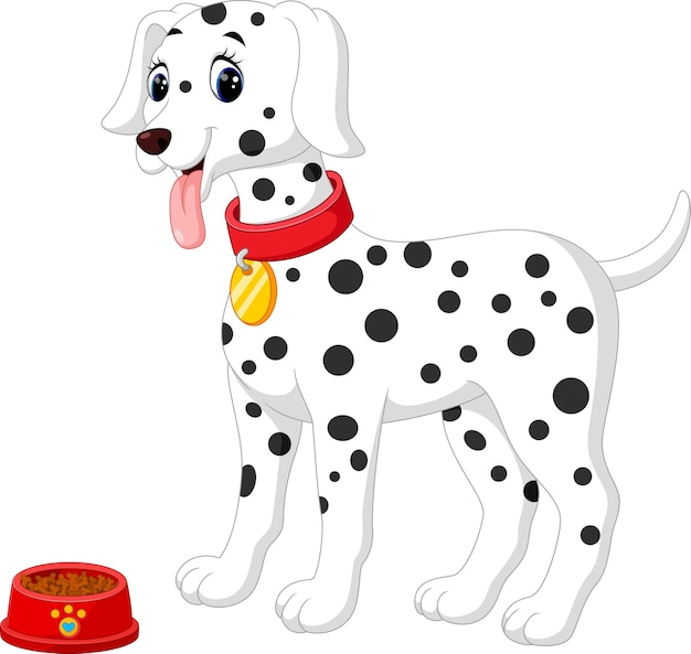 Mignon chien de dalmatie