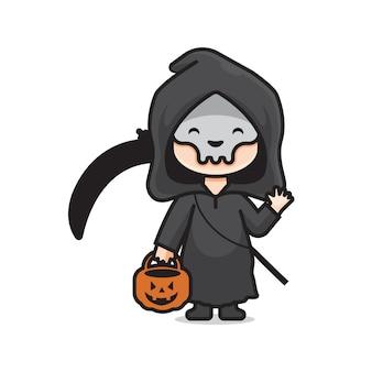 Mignon costume d'halloween mort