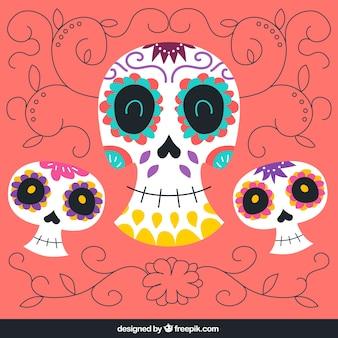 Mignon crânes en sucre illustration