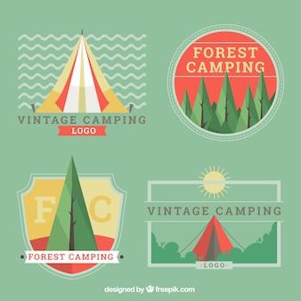 Mignon cru pack logos du camping