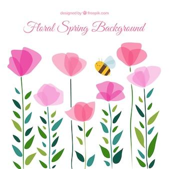 Mignon fond floral de printemps