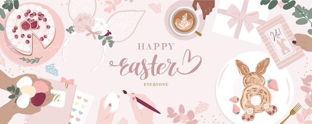 Mignon heureux jour de pâques