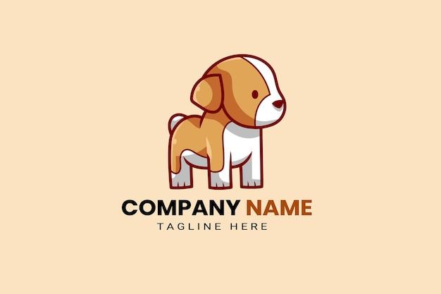 Mignon kawaii chiot corgi chien mascotte dessin animé logo modèle icône illustration dessinés à la main