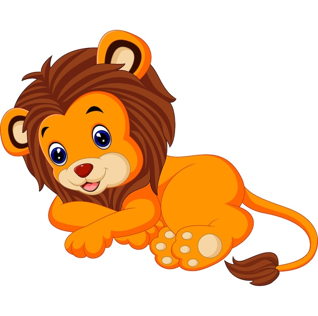 Mignon lion assis