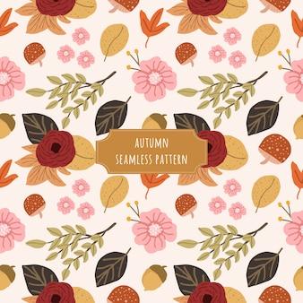 Mignon motif floral sans couture automne