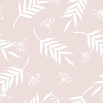 Mignon motif floral vintage dessiné à la main sans soudure