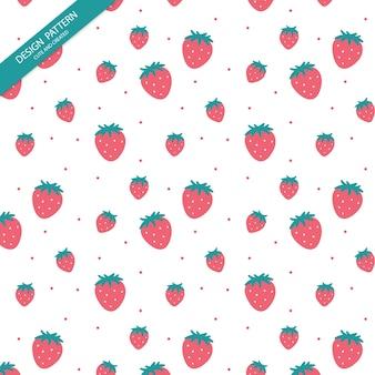 Mignon motif transparent, motif de fraises.