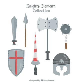 Mignon pack d'éléments guerriers médiévaux