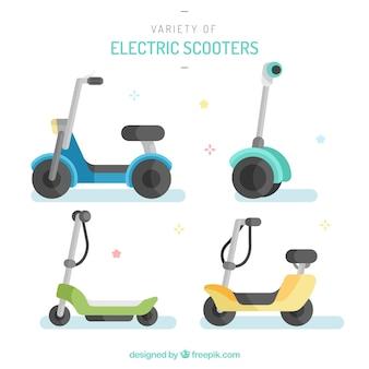 Mignon pack de scooters électriques plats