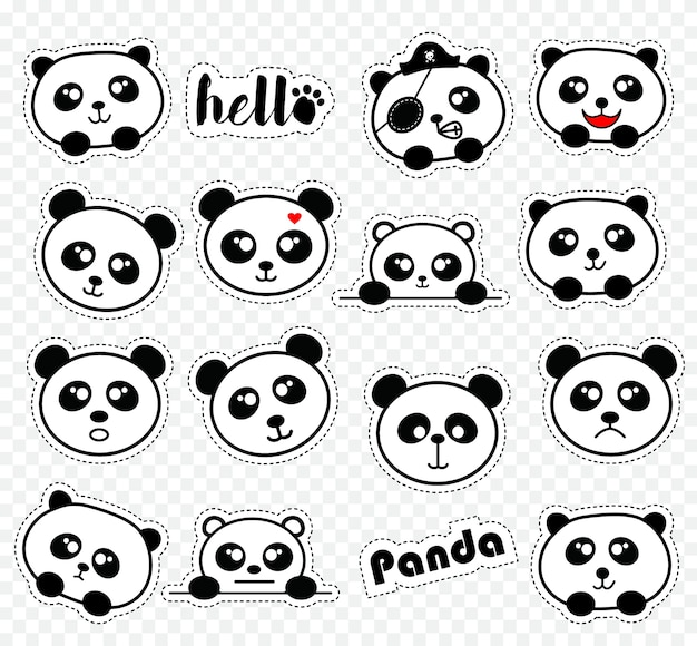 Mignon panda stikers