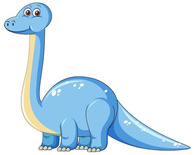 Mignon personnage de dinosaure bleu