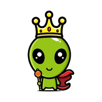 Mignon personnage extraterrestre est roi