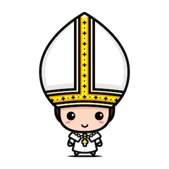Mignon personnage de pape