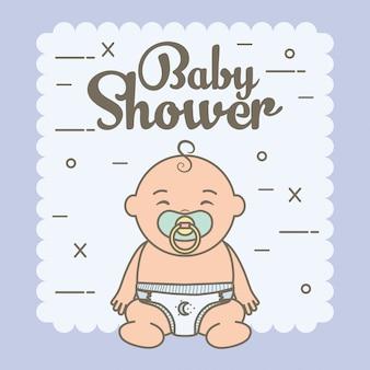 Mignon petit bébé garçon avec sucette