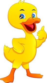 Mignon petit canard pouces vers le haut