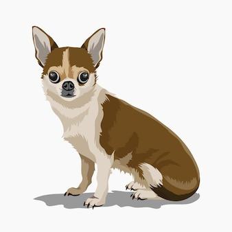 Mignon petit chien décoratif. chiot.