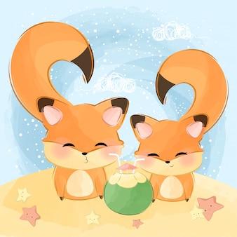 Mignon petit couple animal