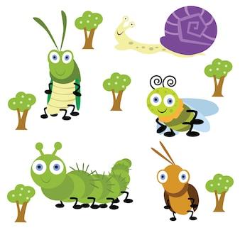 Mignon petit cricket et sa série de bande dessinée d'ami