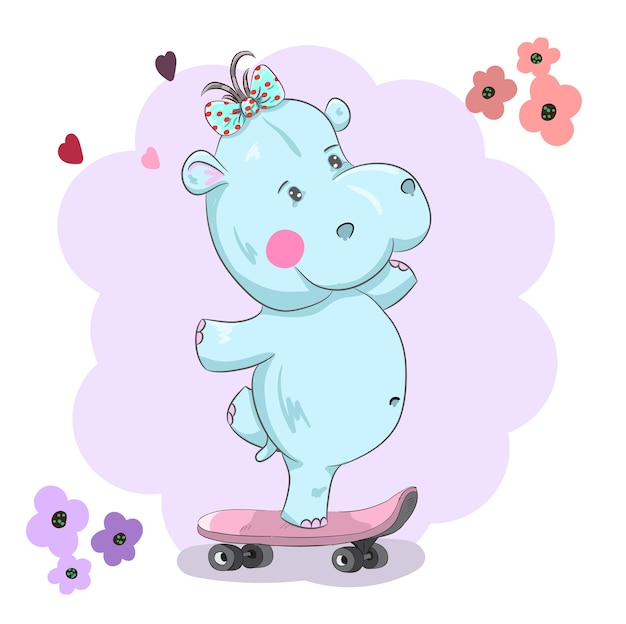Le mignon petit hippopotame