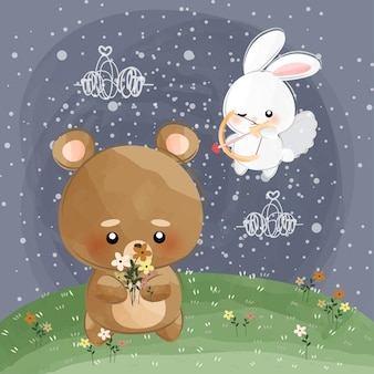 Mignon petit lapin cupidon