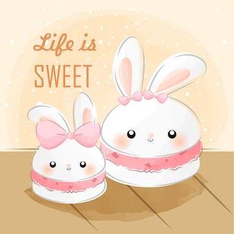 Mignon petit lapin macaron