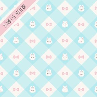 Mignon petit modèle sans couture de lapins