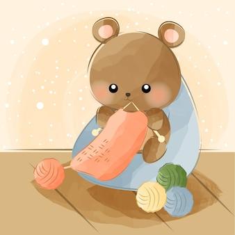 Mignon petit ours à tricoter