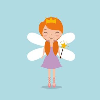 Mignon petit personnage de fée