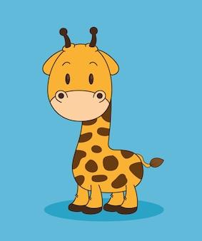 Mignon et petit personnage de girafe