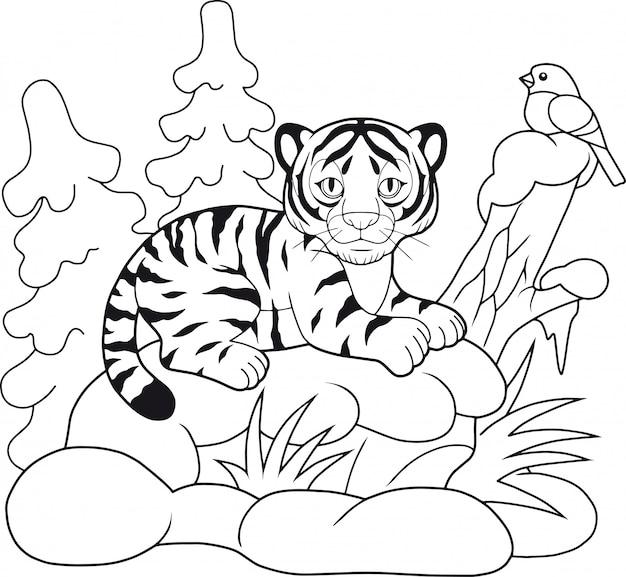 Mignon petit tigre