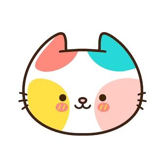 Mignon petit visage de chat de bébé drôle